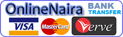 MasterCard ,Verve , Visa(Naira)